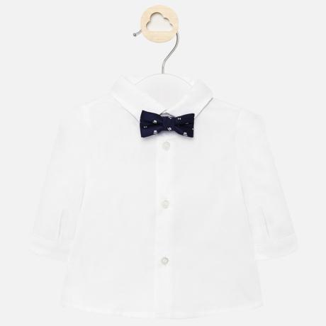 Mayoral hosszú ujjú, klasszikus fehér ing, csokornyakkendővel