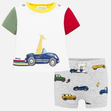Mayoral Autós póló és rövidnadrág szett