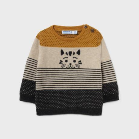 Mayoral tigris mintás kötött pulóver